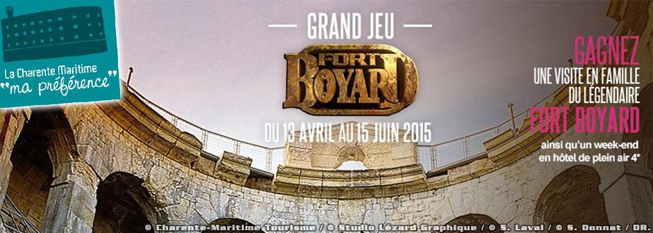 Jouez et gagnez une visite de Fort Boyard avec Charente-Maritime Tourisme!