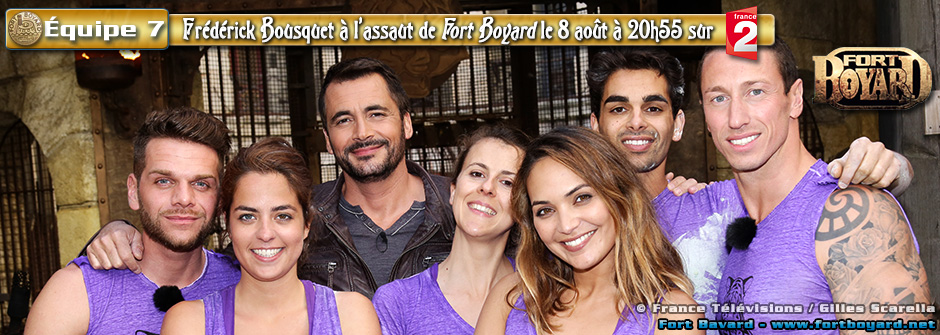 Fort Boyard 2015: Équipe n°7 de Frédérick Bousquet - Samedi 8 août 2015
