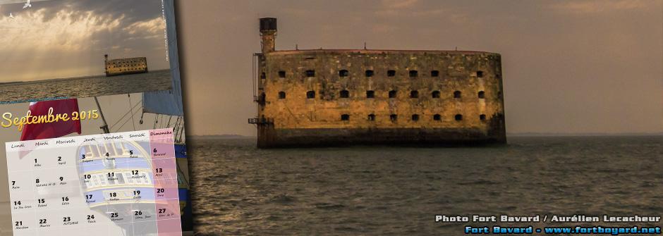 Calendrier Fort Boyard septembre 2015