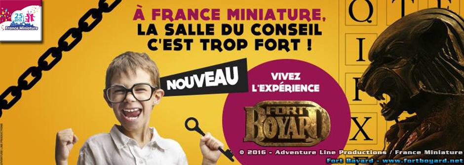 Le Conseil de Fort Boyard s'invite au parc «France Miniature»